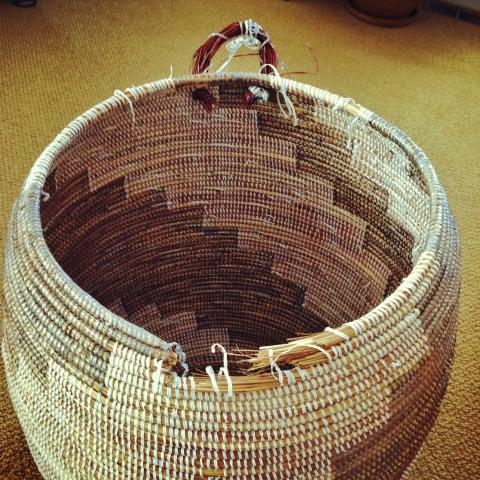 laundry basket seen better days
