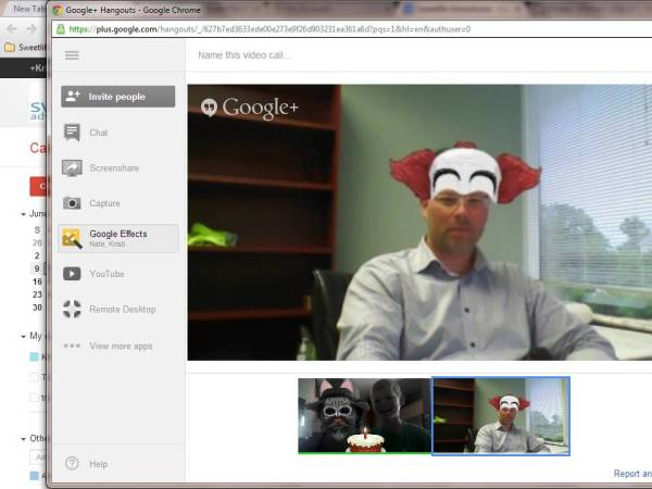 google chat with Daddy and briggs